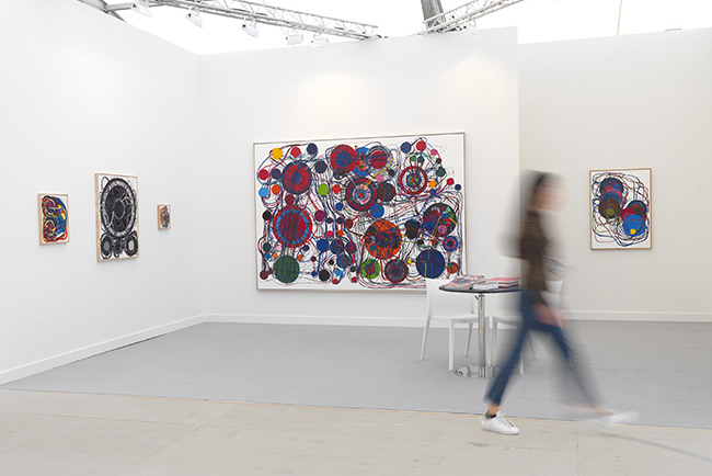Installation view, artwork: Atsuko Tanaka,  Photo: Brian Buckley