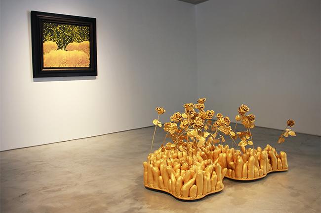 Installation view, artwork: Yayoi Kusama