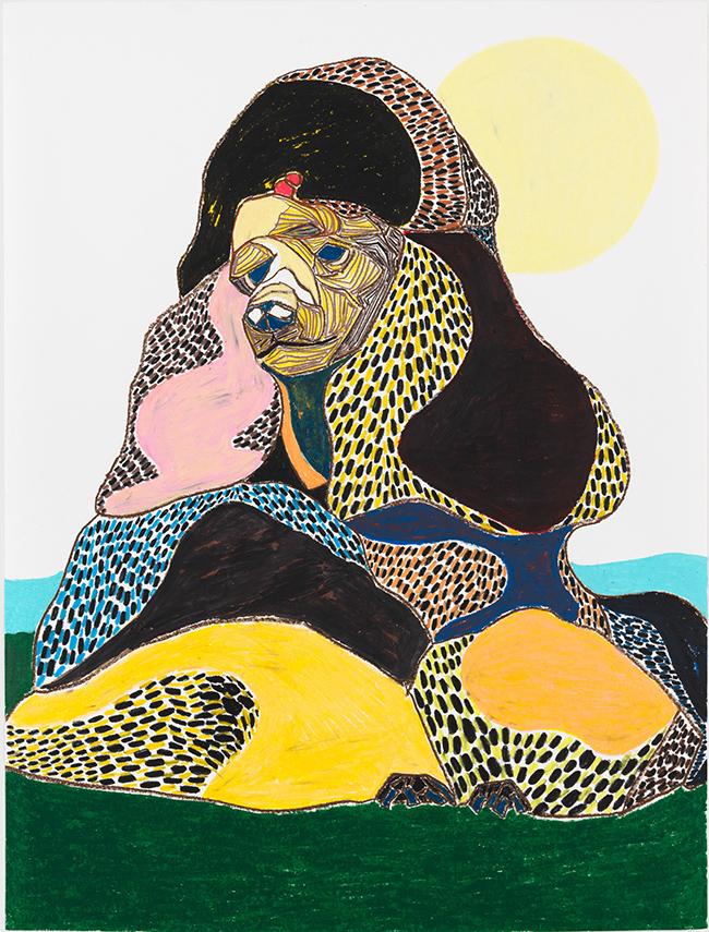 Susumu Kamijo, Summer Wind, 2018, oil crayon and pastel pencil on paper, 127 x 96.8 cm
