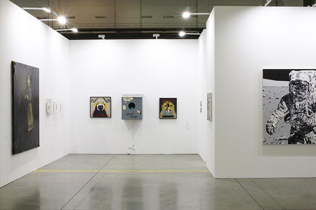 Installation view, artwork, left to right: Takahiro Yamamoto; Koichiro Takagi; Michael Kagan