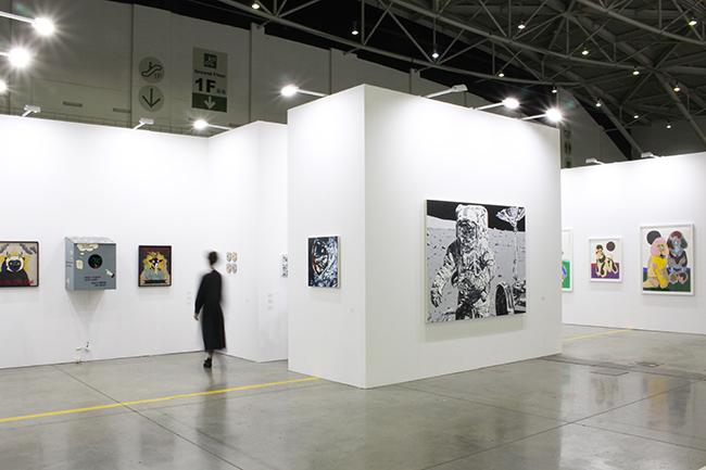 Installation view, artwork, left to right: Koichiro Takagi; Michael Kagan; Susumu Kamijo