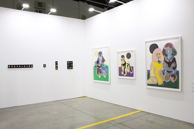 Installation view, artwork, left to right: Takashi Suzuki; Susumu Kamijo
