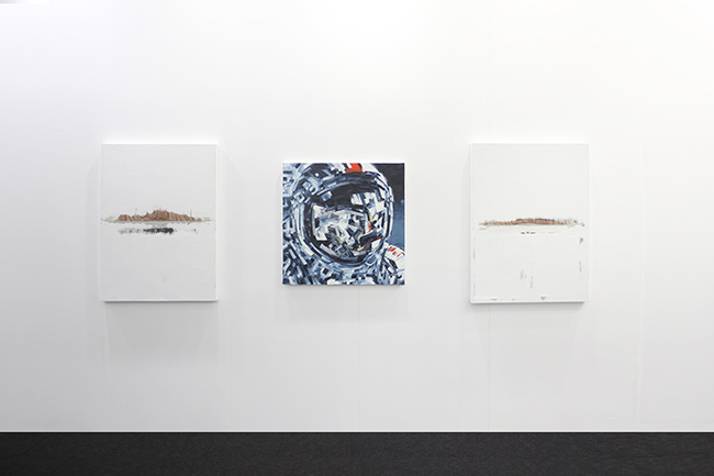 Installation view, artwork, left to right: Noriyuki Haraguchi; Michael Kagan