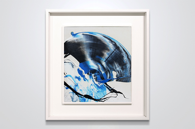 Kazuo Shiraga, Work, 1973, oil on paperboard, 27x24cm