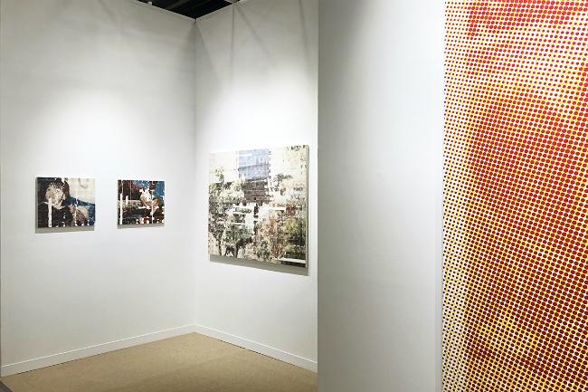Installation view, artwork, left to right: Shiori Tono; Mungo Thomson