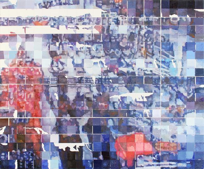 Shiori Tono, '20:42:09', 2019, oil on canvas, 60.6x72.7cm