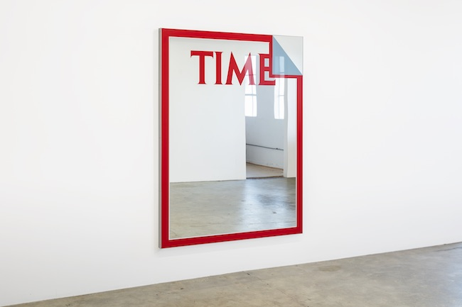 Mungo Thomson, 'November 24, 1980 (Saturn)', 2020, Enamel on low-iron mirror, poplar and aluminium, 188.0 x 142.0 x 6.0 cm