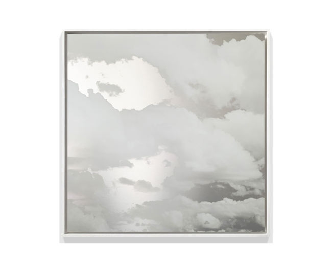 Miya Ando, 'Kumo (Clouds) July 2 2020', 2020, ink on aluminum composite, 127.0 x 127.0 cm