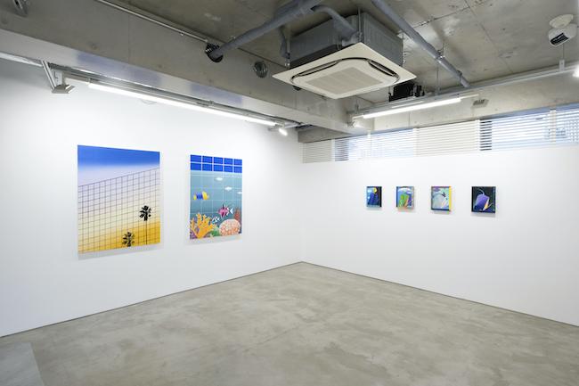 Installation view, artwork, left to right: Alec Egan; Craig Kucia