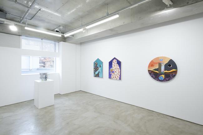 Installation view, artwork, left to right: Patrick Jackson; Amir H. Fallah; Greg Ito