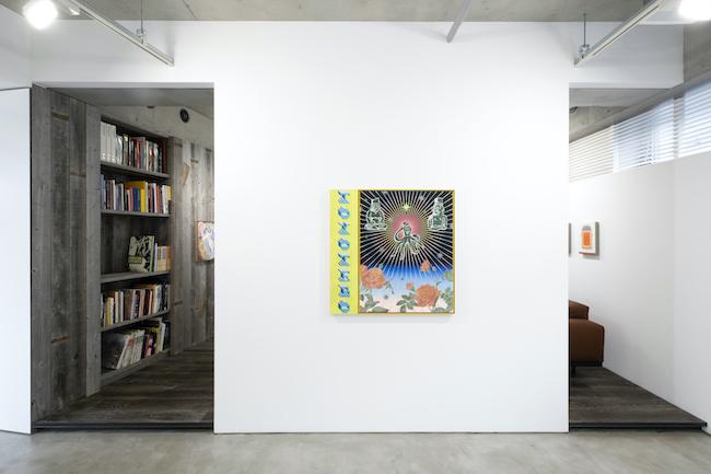 Installation view, artwork, left to right: Jennifer Rochlin; Jaime Muñoz; Lily Stockman