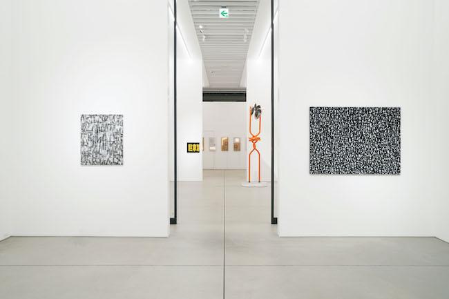 Installation view, artwork, front to back: baanai; Takuro Tamura; Satoru Tamura