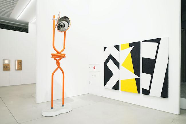 Installation view, artwork, left to right: Satoru Tamura; Takuro Tamura