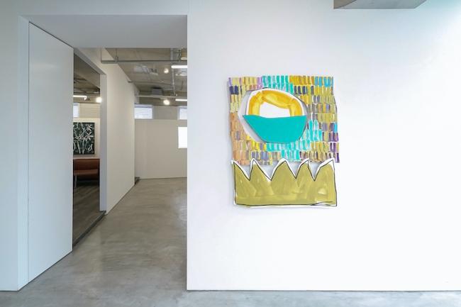 Installation view, artwork, left to right: Jennifer Rochlin; Justine Hill