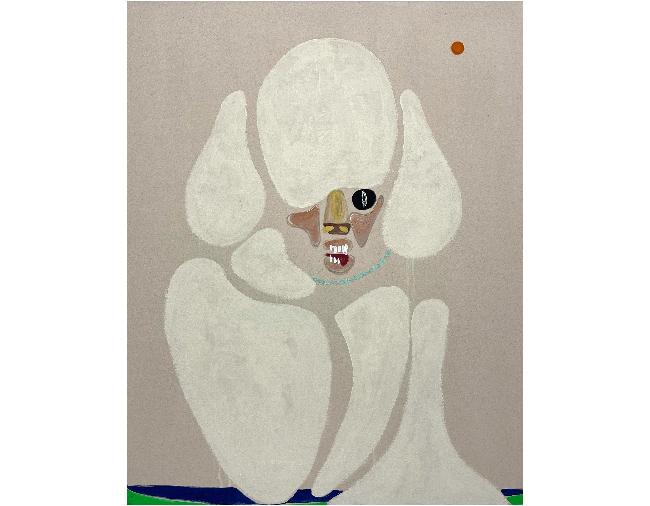 Susumu Kamijo, <em>Come A Little Closer</em>, 2021, flashe vinyl paint on canvas, 152.4 x 121.9 cm