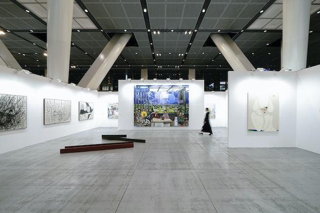 Installation view, artwork, left to right: Anthony Miler; Kaz Oshiro; Shiori Tono; Marius Bercea; Susumu Kamijo