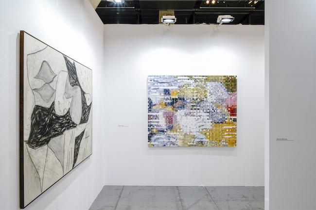 Installation view, artwork, left to right: Anthony Miler; Shiori Tono