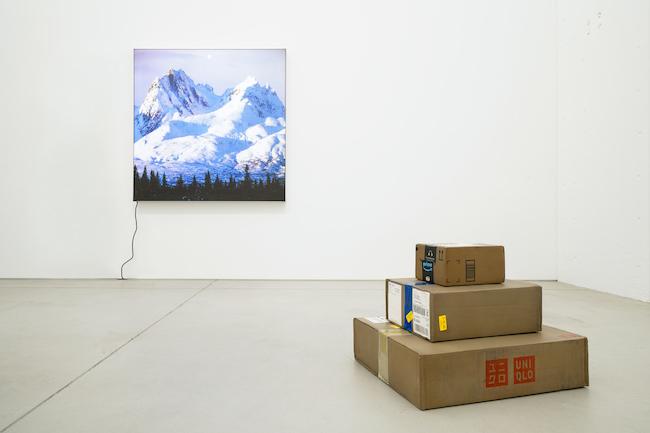 Installation view, artwork: Mungo Thomson, MAKI Gallery / Tennoz I, Tokyo