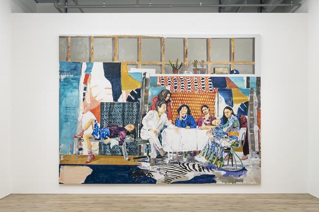 Installation view with Marius Bercea, <em>The far sound of cities</em>, 2020