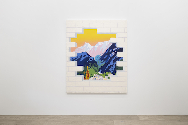 Installation view with Alec Egan, <em>Hole in the Wall</em>, 2021