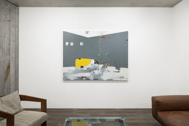 Installation view with Brian Harte, <em>Room</em>, 2021