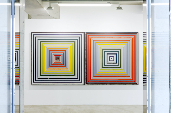 Installation view with Tammi Campbell, <em>Paradoxe sur le comédien, 1974 with Masking Tape</em>, 2021, MAKI Gallery / Omotesando, Tokyo
